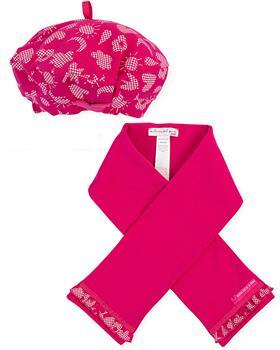 Agatha Ruiz girls fuscia hat & scarf 3830-021