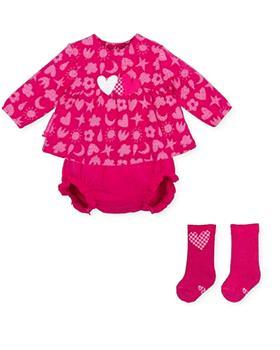 Agatha Ruiz girls Sun Moon Stars tunic set  & socks 3030-021