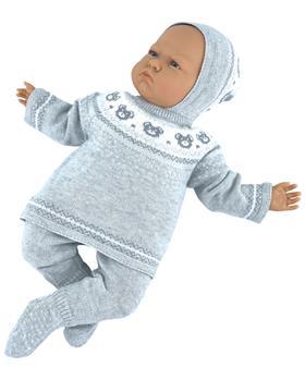 Martin Aranda knitted top pants & hat 004-10066-021 grey