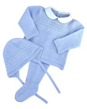 Martin Aranda knitted top pants & hat 004-10072-021 blue