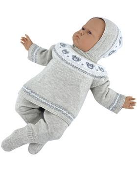 Martin Aranda knitted top pants & hat 004-10066-021 camel