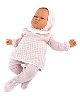 Martin Aranda knitted top pants & hat 004-10071-021 dusky pink