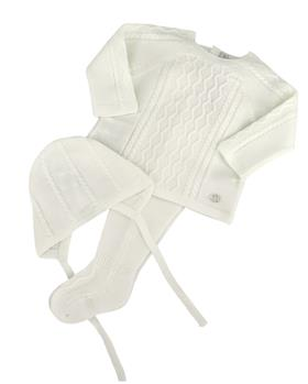 Martin Aranda knitted top pants & hat 004-14072-021 cream