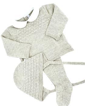 Martin Aranda knitted top pants & hat 004-10072-021 camel