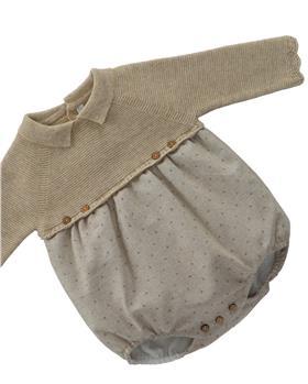 Martin Aranda long sleeve romper 001-30069-021 camel
