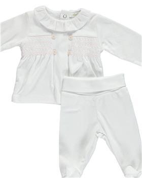 Deolinda baby girls 2 piece with feet DB121604 pink