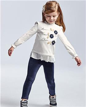 Mayoral girls top & leggings 4741-021 Navy