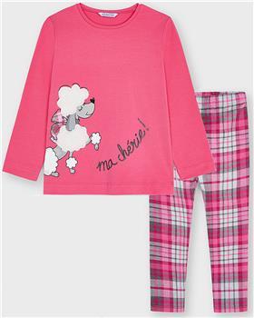 Mayoral girls top & leggings 4013-4739-021 Cerise