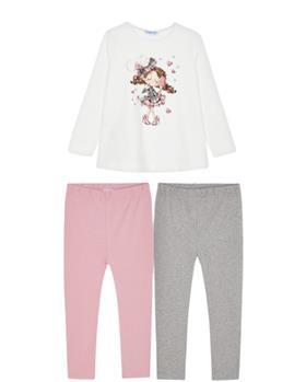 Mayoral girls top & leggings 4746-021 Pink