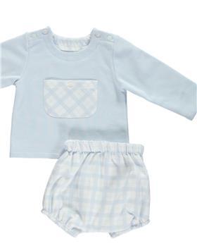 Deolinda baby boys 2 piece set DB21528 blue