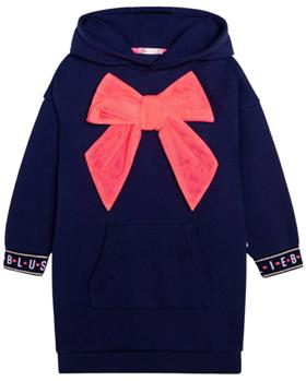Billieblush girls winter dress U12706 navy