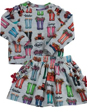 Daga girls wellie sweatshirt & skirt M8564-8568