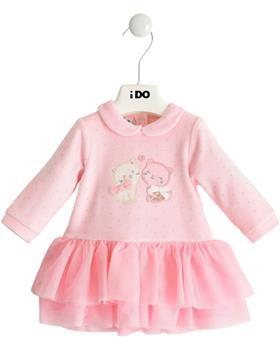 I Do girls velour dress velour dress 43242-121 pink