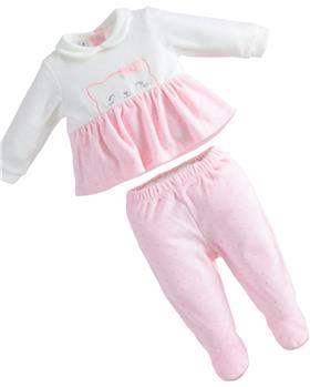 I Do baby girls top & footsie 43250-121 pink