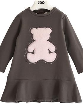 I Do girls winter dress 43599-021 grey