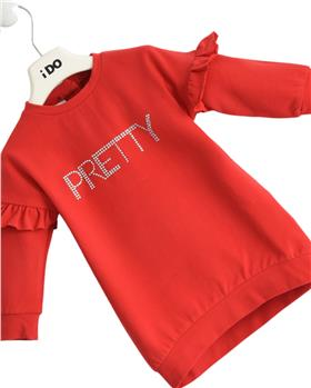 I Do girls winter sweatsirt dress 43592-121 Red
