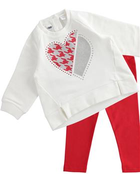 I Do girls sweatop & legging 43618-43374-021 cream