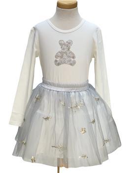 Daga girls sequin teddy bear top & skirt M8576-8577