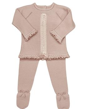 Granlei girls knitted jumper & footsie 2-589-121 Dusky pink