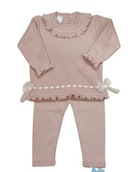 Granlei girls knitted jumper & pants 2-584-121 Dusky pink