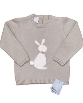 Granlei Baby Boys Bunny Jumper 202-650-20 Beige