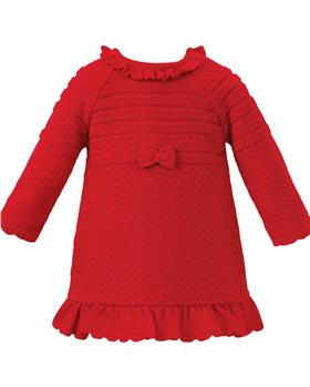 Sarah Louise Girls Knitted Dress 008155 Red