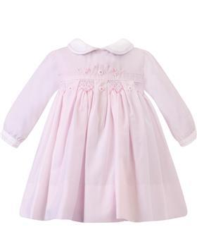 Sarah Louise girls dress 012459 Pk/wh