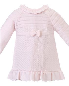 Sarah Louise Girls Knitted Dress 008155 Pink