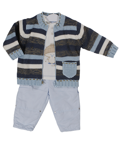 Pequilino baby boys 3 piece set/9038