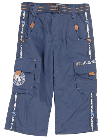 Dudeskin blue/orange combat trousers