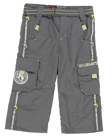 Dudeskin grey/lime combat trousers