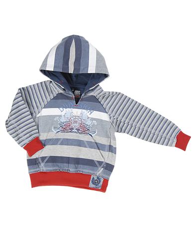 Dudeskin stripey hoody