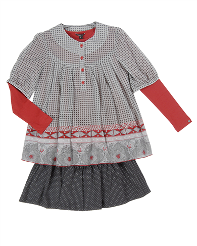NO NO 3 piece smocked top set