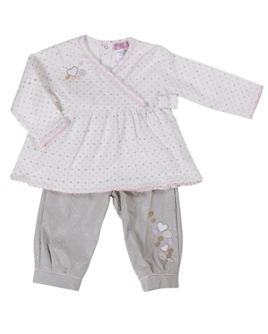 Dizzy Daisy baby girl 2 sparkly trouser 2 piece outfit