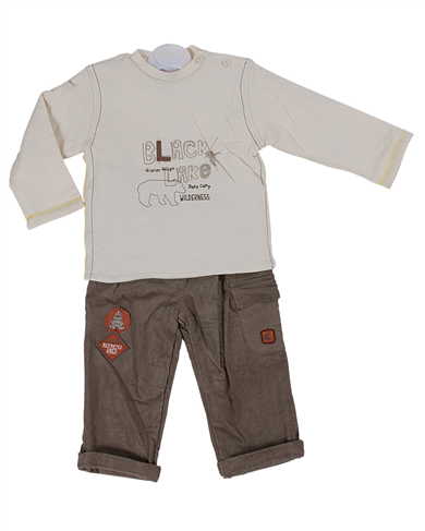 Pequilino baby boy 2 piece  top and trouser set/9065