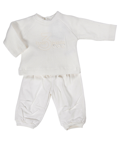 baby boy cream cord trouser 2 piece set