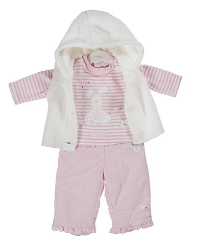 Everyday Kids Baby Girls Top, Trouser & Gilet N0017