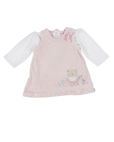 baby girl spotty pinafore and top set