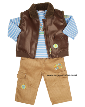 Everyday Kids Boys Motor Club Outfit Top | Trousers | Jacket 7071