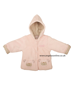 Everyday Kids Baby Girl Pink Teddy Bear Jacket 7018
