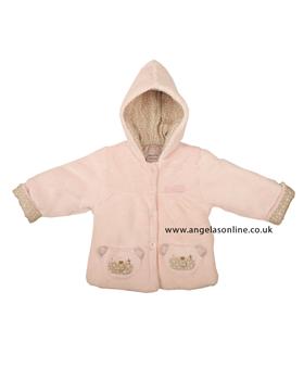 Everyday Kids Baby Girl Pink Teddy Bear Jacket 7018