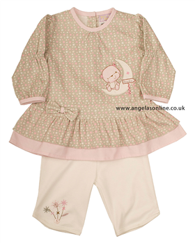 Everyday Kids Baby Girl 2 Piece Long Sleeve Dress   Leggings 7019