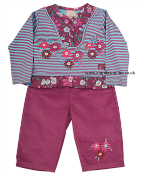 Everyday Kids Girls 2 piece Outfit Top   Trousers 7060