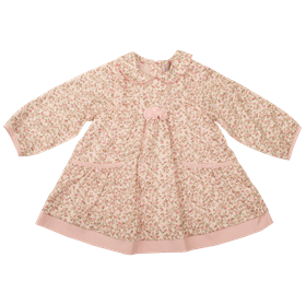 Everyday Kids Baby Girls Floral Dress with Collar 7117