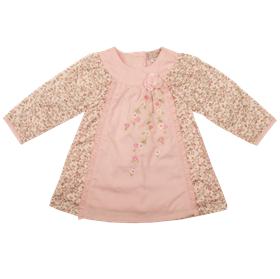 Everyday Kids Baby Girls Floral Smock Dress 7115