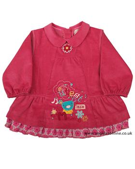 Everyday Kids Baby Girls Pink Corduroy Dress 7082b