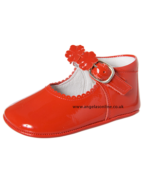 Andanines Baby Girl Red Patent Leather Shoe E10601