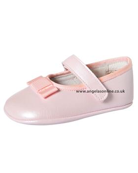Andanines Baby Girl Pink Pearlised Shoe J10410