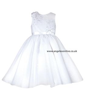 Sarah Louise Girls Christening Dress 070019-9435 White