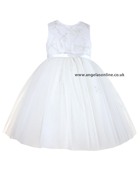 Sarah Louise Girls Christening Dress 9408 Ivory